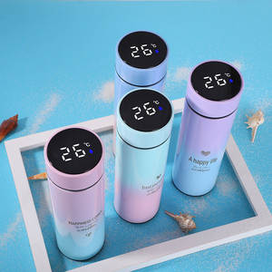 500ML Smart Thermos Water Bottle Led Digital Temperature Display Stainless Steel Coffee