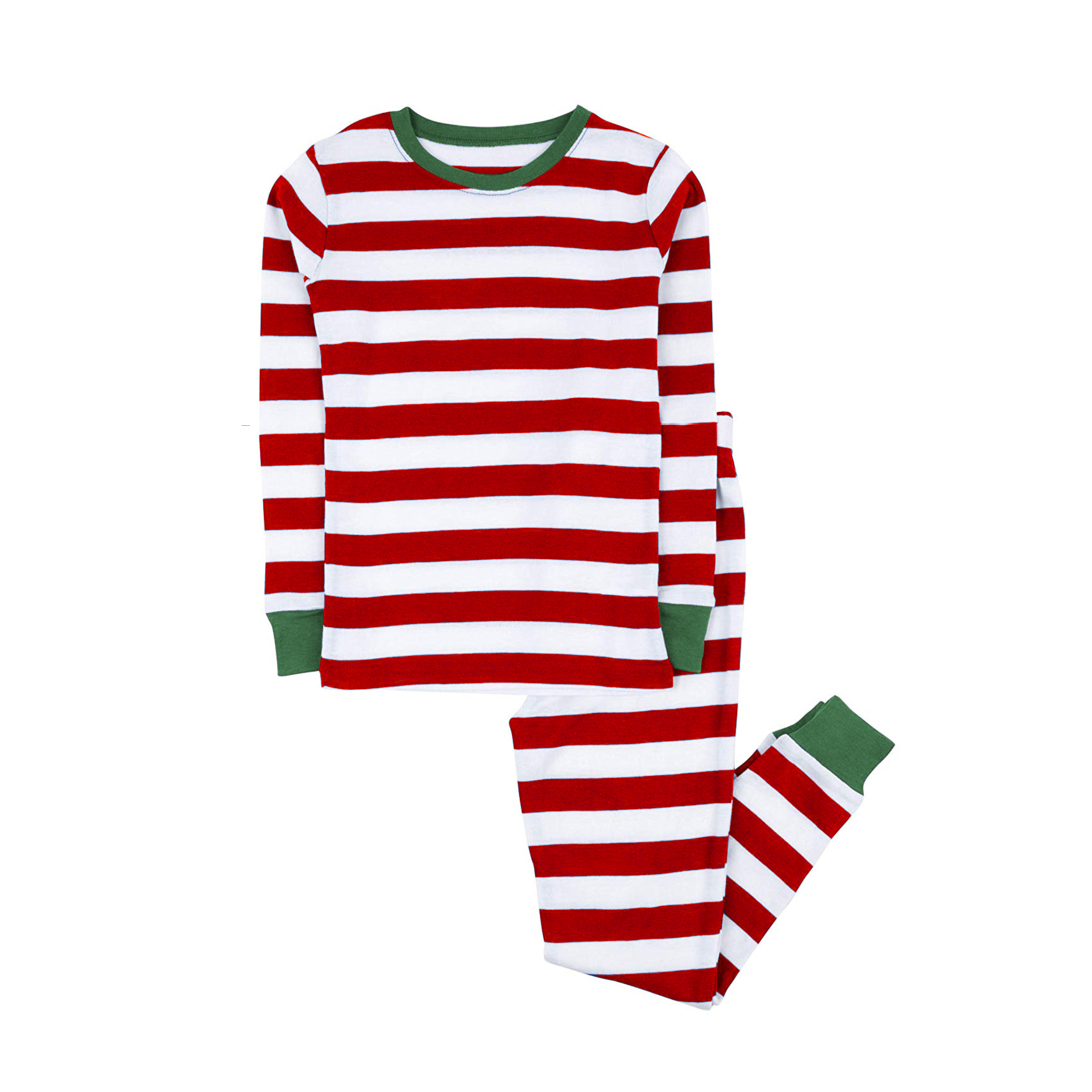 100% cotton boys and girls Christmas stripe pajamas kids sleepwear children pyjamas clothes 3