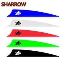 """100 шт. """" /3""""/"""" резиновые стрелы для стрельбы из лука, резиновые лопатки, стрелы, флетчи, инструменты DIY, Форма щита для охоты, аксессуары для стрельбы"""