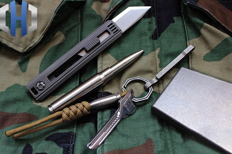 Bolígrafo De Defensa táctica de titanio pluma de autodefensa pluma de escritura de ventana rota - 3