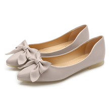 1Pair Pro Women Low Heels Bohemia Butterfly-knot Ladies Shoes High Quality Causal Pointed Toe Dress Pumps Mujer