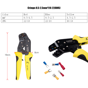 Image 5 - PARON Crimping Tool Wire Crimpers Wire Terminals Crimping Tool Insulated Ratcheting Crimper Kit 500PCS Spade Connectors Pliers