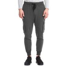 2019 Men Fitness Cargo Pants Autumn Casual Sport Trousers Drawstring Joggers Pockets Sweatpant Pencil Sportswear Military Pants
