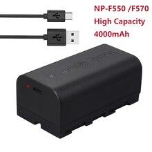 NP F550 NP F570 NP F330 NP F550แบตเตอรี่กล้องUSB BatetryสำหรับSony NP F330 NP F530 NP F570 NP F730 NP F750 CCD RV100