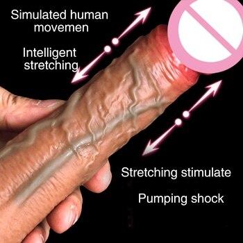 Dildos Vibrador  Wireless Automatic Vibrator Telescopic Heating Skin Feeling Stimulator Vagina Massager Toys For Women