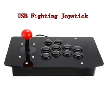 Joystick de Arcade, 10 botones, palo de combate USB, Mando de juego, Mando de videojuegos para consolas de PC
