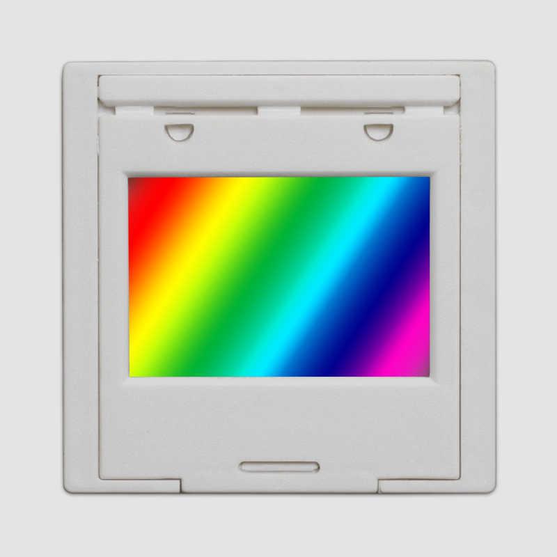 Rejilla de difracción 50 líneas 1mm rejilla de transmisión espectrofotómetro óptico experiencia de enseñanza personalizable