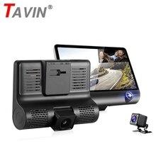 цена на Car dvr Rear View Camera Dash Cam Recorder Dual Lens 3 Lens 4 Inch Mirror Recorder Driver Recorder Car Camera Auto Registrator