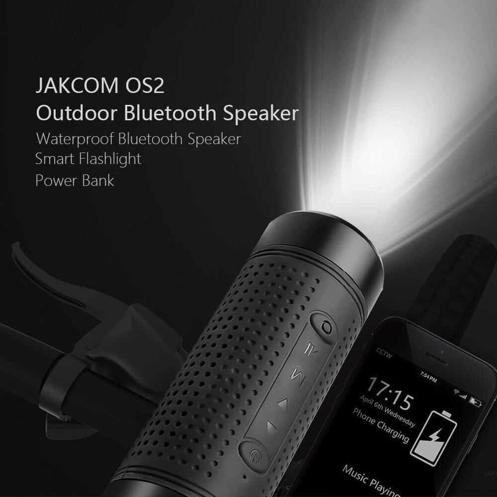 Беспроводная bluetooth-колонка kebidu JAKCOM OS2, портативный уличный водонепроницаемый динамик для велосипедов с внешним аккумулятором, фонариком, по...