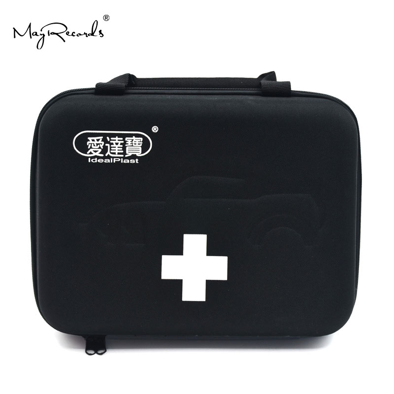 Idealplast First Aid Empty Kit Bag For Travel Camping Sport Medical Car Emergency Survival Outdoor (Black)