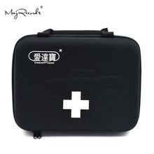 Idealplast di Pronto Soccorso Sacchetto di Kit di Vuoto per la Corsa di Campeggio di Sport Auto Medica Di Sopravvivenza Di Emergenza Esterno (Nero)