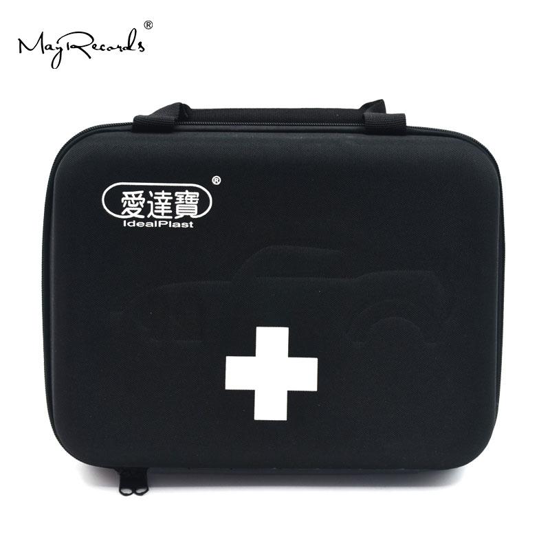 Idealplast kit de primeiros socorros vazio saco para viagem acampamento esporte carro médico emergência sobrevivência ao ar livre (preto)