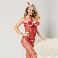 Erotic Christmas Cosplay Costume Fancy Women Santa Claus Bodysuits For Adult Women 2019 Red Sexy Hollween Party Costumes 7071