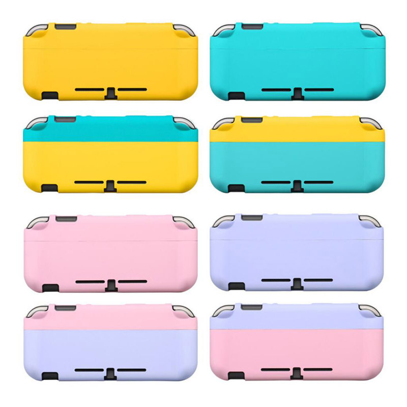 Colorful Full Back Cover Shell For Nintendo Switch Lite Pure Colour Console Joy Con Controller Protective Film Sticker Skin Case(China)
