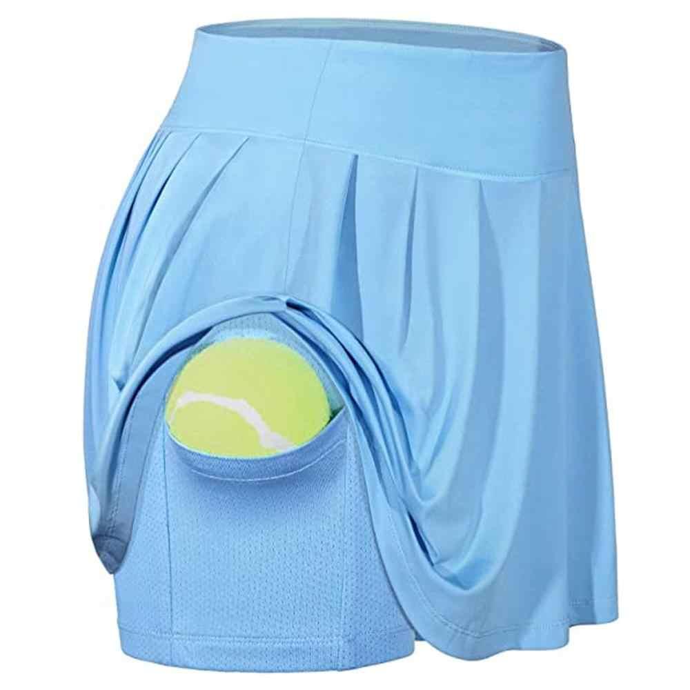 Frauen Aktive Leichte Rock Laufen Tennis Golf Workout Einfarbig Sport Skorts Mit Unterwäsche Für 2020 Sommer Damen