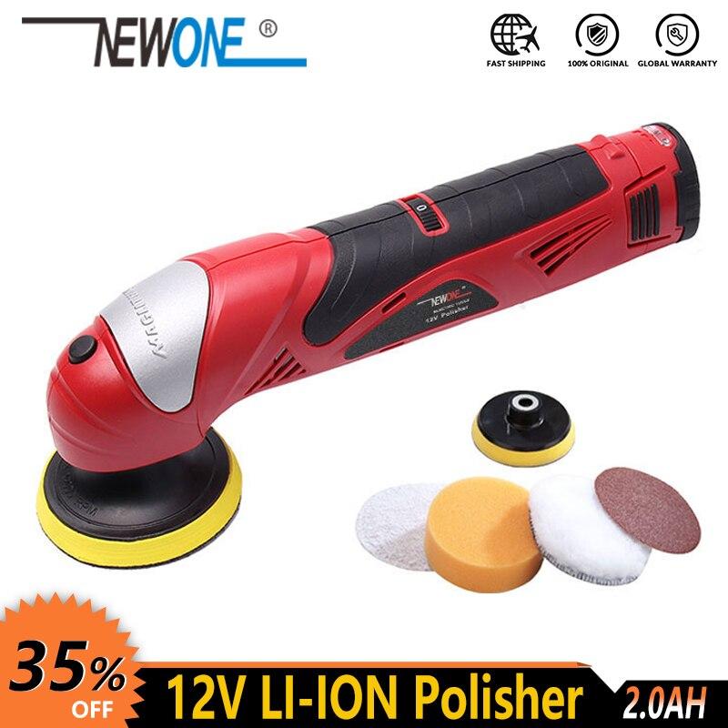 NEWONE 12V Li-ion electric Power tool Car Shoe Polisher Waxing polishing clearning shining machine Portable Variable speed