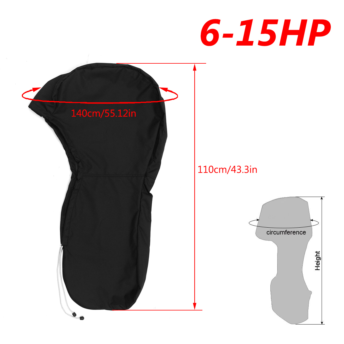 420D 6-15HP Boat Engine Cover Full Outboard Motor Protector Waterproof For 6-15HP Motors