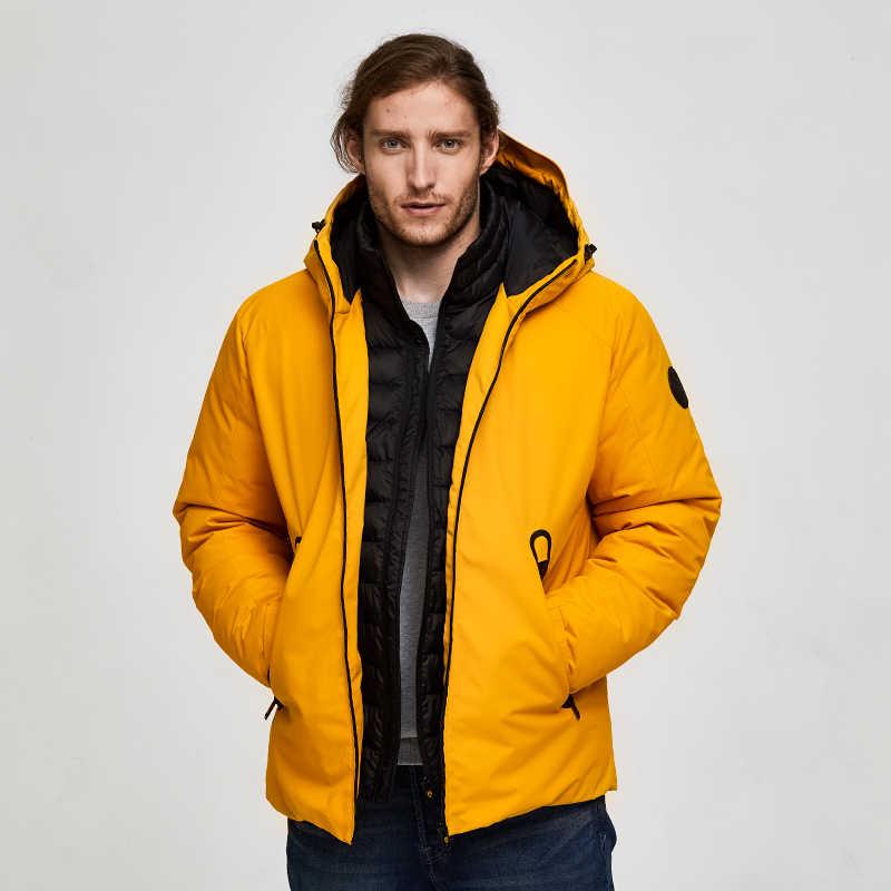 Tiger Kraft Oversize Männer Winter Jacke Ski Sport Jacke Für Männer Wasserdichte Schnee jacke Gefälschte Zwei Mit Kapuze Jacke Männlichen Verdicken mantel