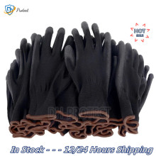 PU nylon safety coating gloves gardening work protection construction workers protective gloves coating machinery work gloves