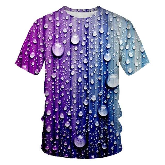 Мужская футболка с 3D принтом, новинка, брендовая футболка с коротким рукавом, Мужская забавная футболка в стиле Харадзюку, облегающая футболка в стиле хип-хоп, уличная футболка, Homme - Цвет: NT-095