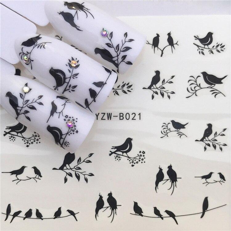 Environmentally Friendly Nail Sticker Pregnant Women Children Usable Flowers And Birds UV Polish Nail Sticker YZW-B021
