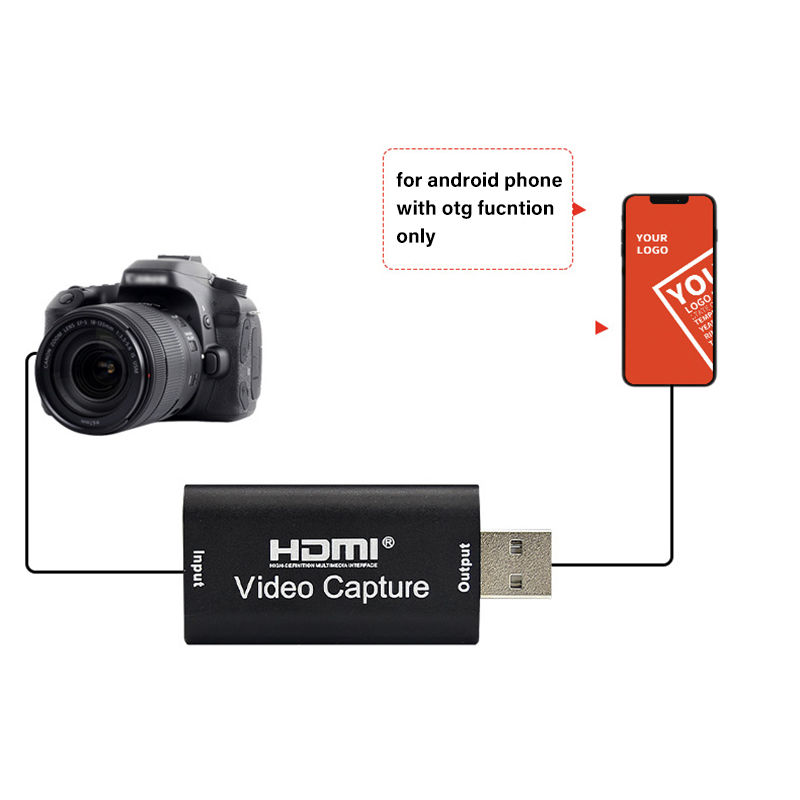 4K Video Capture Card USB 3.0 USB2.0 HDMI-compatible Grabber Recorder for PS4 Game DVD Camcorder Camera Recording Live Streaming 3