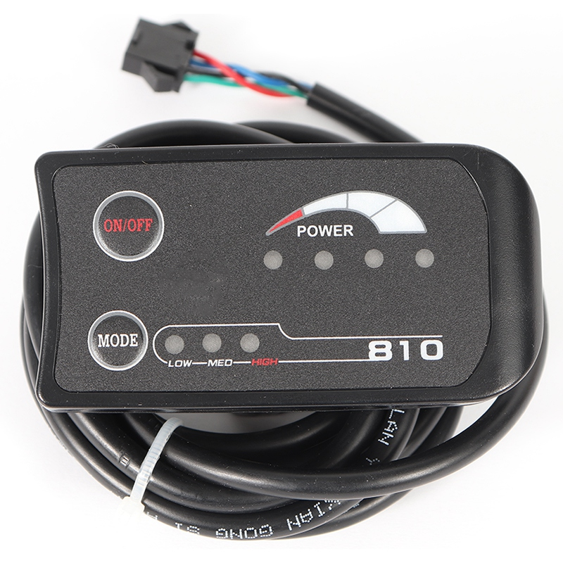 ABUO Electric Bicycle LED Display 810 Control Panel 3 Assist Light Indicate Power Switch Model Control Headlight Waterproof Conn Trainers & Rollers     - title=