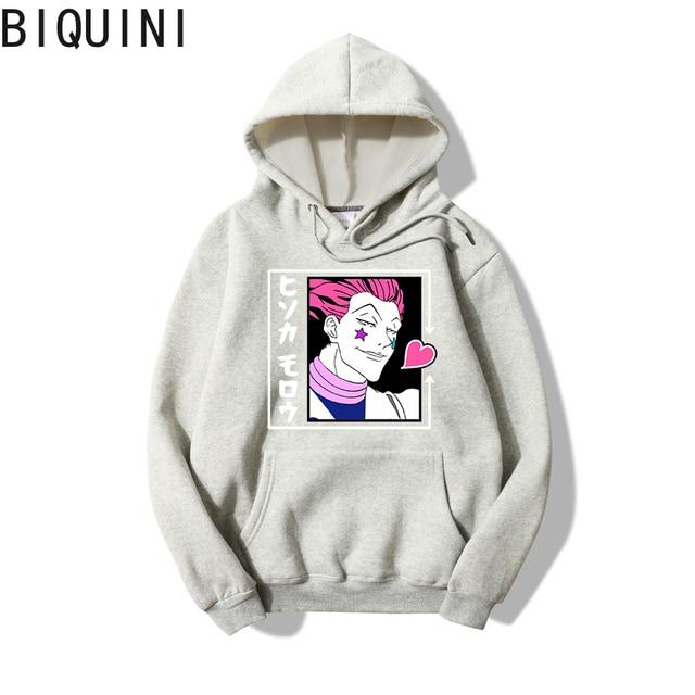 HUNTER X HUNTER HISOKA MOROW Hoodies 12 Color Hooded Tops UNISEX basic print Sweatshirt Long-sleeved  Plus Velvet  Streetwear 4