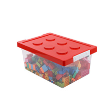 Stackable Storage Case Large Capacity Storage Container Storage Box Organizer Container Case Colorful Building Block Designed