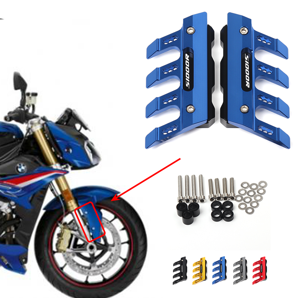 Motorcycle Front Fender Side Protection Guard Mudguard Sliders For BMW S1000R S1000 R Accessories universal