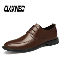 Buy CLAXNEO Man Leather Shoes Genuine Leather Derby Shoe Male Oxfords Men's Wedding Footwear Big Size directly from merchant!