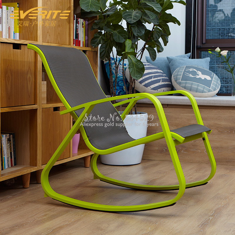15%For Sale Simple Adult Rocking Chair Green Fresh Lazy Lounge Chair Leisure Balcony, Easy Chair American Lunch Break Chair
