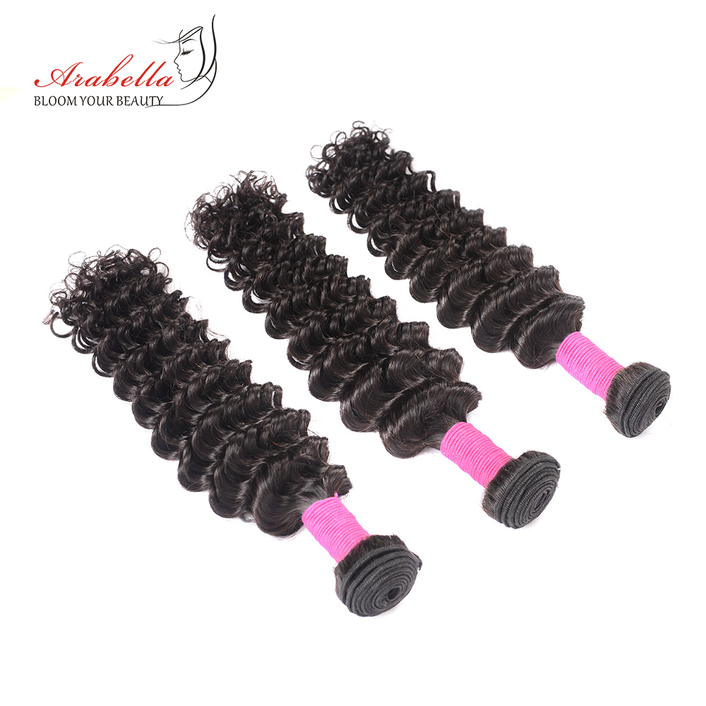 Deep Wave Hair Bundles 3 Pieces Natural Black Color Hair  Arabella  Hair  Bundles 3