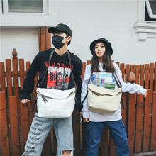 2020 new canvas shoulder bag trend fan messenger women simple and casual