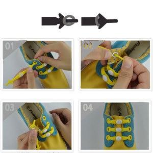 Image 3 - Silicone No Tie Shoelaces 12pcs/lot Elastic Shoe Laces Accessories Elastic Lace Shoelace Creative Lazy Silicone Laces Rubber