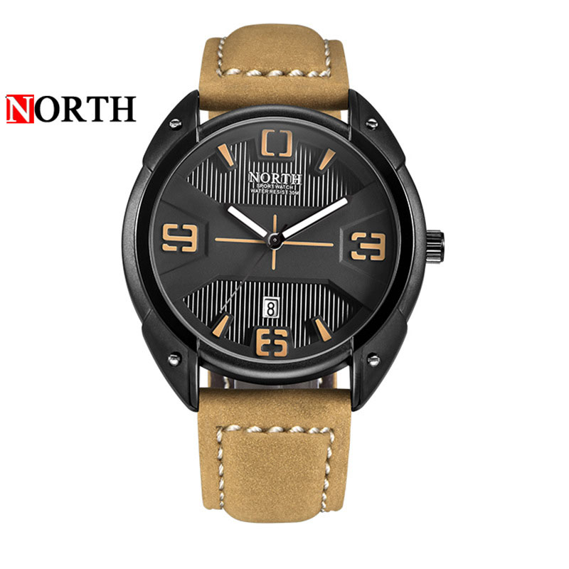 Fashion Quartz Watch Men Large Dial Retro Design Leather Band Sport Watches High Quality Military Army Wrist Male