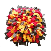 Dog Snuffle Mat Hand Woven Dog Sniffing Pad Soft Pet Nose Work Smell Snuffle Mat Training Feeding
