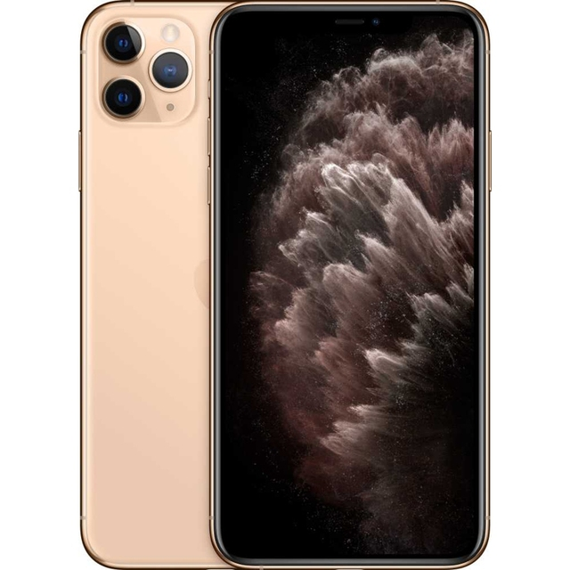 "Смартфон Apple iPhone 11 Pro Max MWHG2RU/A 64Gb золотистый 3G 4G 1Sim 6.5"" OLED 1242x2688 iOS 13 12M"