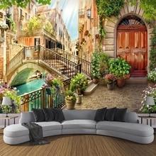 Wallpaper Backdrop-Non-Woven Town Bedroom Small Photo-Mural Papel-De-Parede Landscape