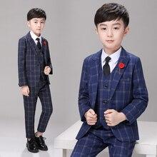 2019 Kids boys wedding Blazers Black suits boy slim