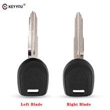 Чехол для ключей KEYYOU Transponder, брелок для MITSUBISHI Colt Lancer Mirage Outlander Pajero, дистанционный ключ, левое/правое лезвие, без чипа