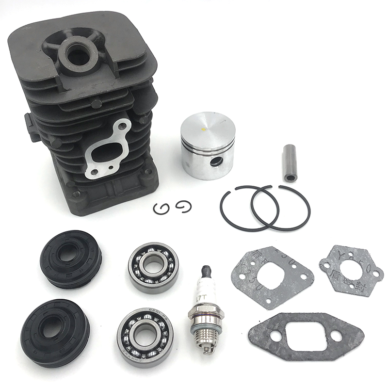 HUNDURE 41.1mm Chainsaw Cylinder And Gasket  Piston Assy Spark Plug Grooved Ball Bearing Kit For Partner 350 Partner 351