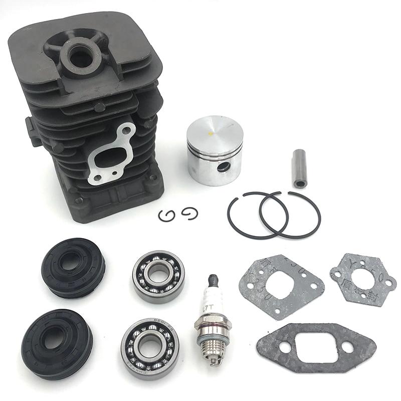 HUNDURE 41 1mm chainsaw cylinder and Gasket  piston assy Spark Plug Grooved Ball Bearing Kit For Partner 350 Partner 351