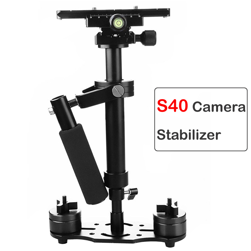 S40 Handle Stabilizer 40cm Photography Video Aluminum Alloy Handheld Stabilizer Shooting Steadycam DSLR Steadicam DSLR Camcorder|Stabilizers| |  - title=