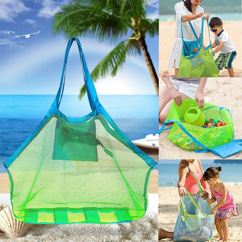 HobbyLane Durable Holding Toys Balls Beach Mesh Tote Bag Beach Swimming Bag Children Toys Stay Away From Sand Swim Sport Bag