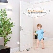 3PCS/Set  Practical DurableChild Safety Door Stop Nail-free Household Anti-slip Rubber Anti-collision