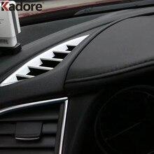 Dla Mazda 6 Atenza M6 2017 ABS matowa przednia wewnętrzna klimatyzator osłona wentylacyjna tapicerka gniazdo elektryczne dekoracja akcesoria samochodowe do stylizacji