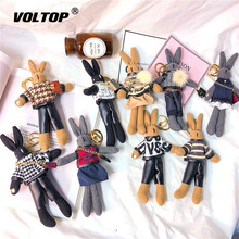 Fashion Rabbit Car key chain Doll key ring Decoration accessories Backpack pendant keychain Lovely Bag Ornaments fashion girl bag pendant fan shape tassels key chain car ornaments