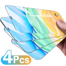 4Pcs Tempered Glass For iPhone 7 8 6 6S Plus 11 12 Screen Protector For iPhone 11 12 Pro XS Max X XR Protective Glass