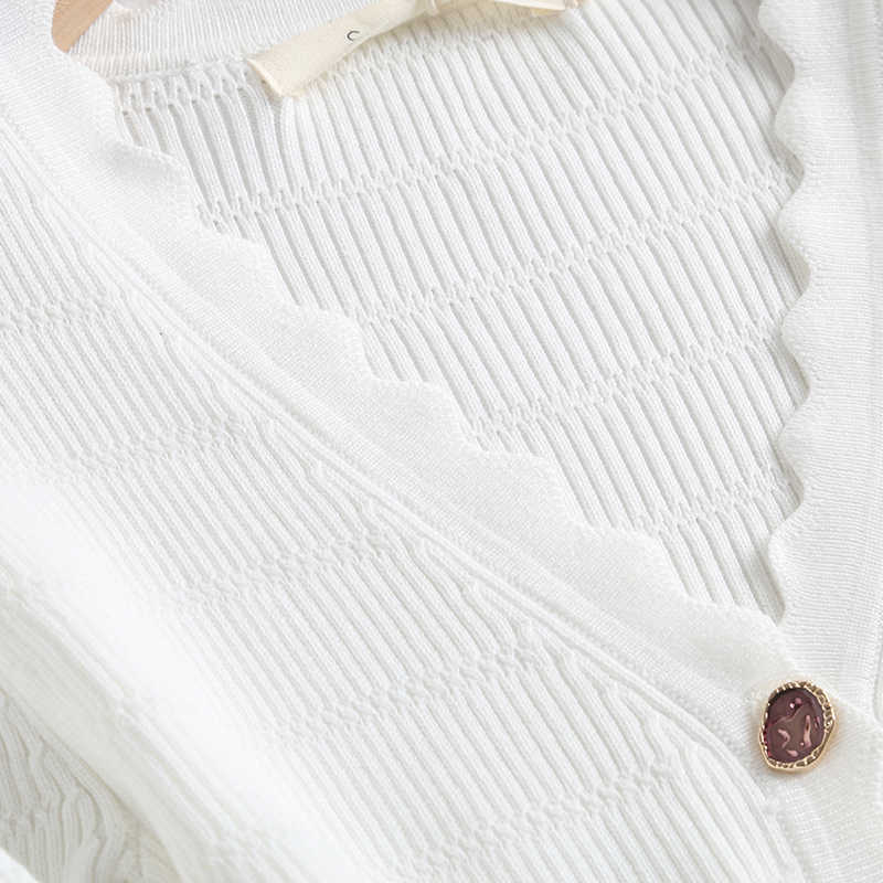 Cfk 女性の夏の tシャツ v ネック固体ニットプルオーバーファムエレガントなカジュアルシースホワイト作物 tシャツトップ